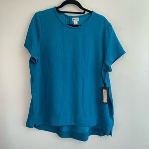 ⭐️3/$25⭐️ BNWT Stylus High Low Teal Tunic Top